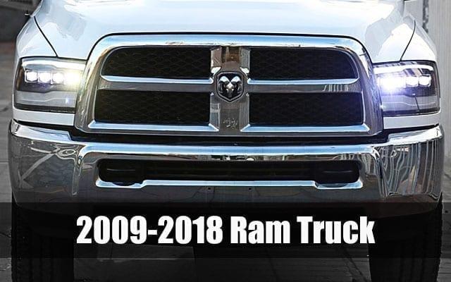 AlphaRex 2009 2010 2011 2012 2013 2014 2015 2016 2017 2018 Dodge Ram Truck 1500 2500 3500 PRO-Series and NOVA-Series Projector Headlights