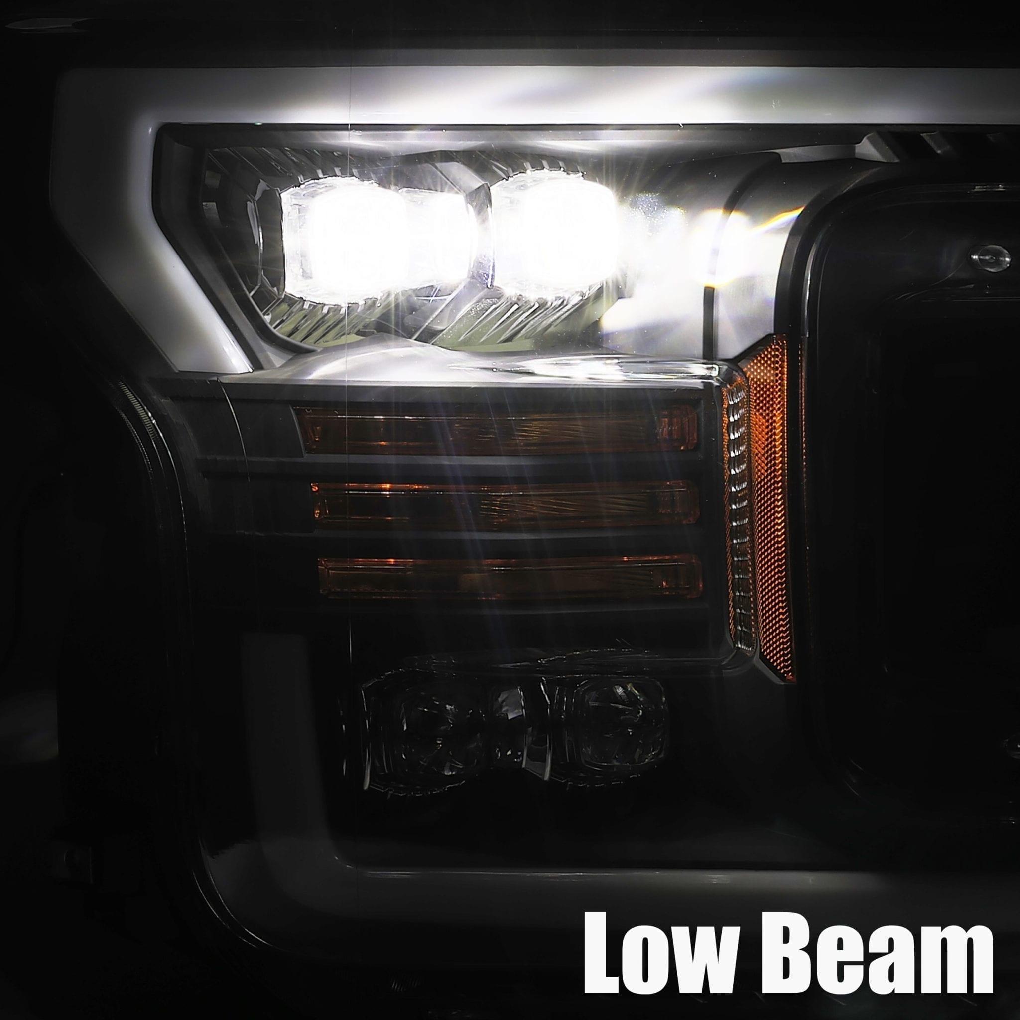 18 20 F150 Nova Series Projector Headlights Jet Black