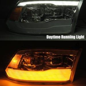 DRL and signal light 2009 2010 2011 2012 2013 2014 2015 2016 2017 2018 Ram Truck 1500/2500/3500 PRO-Series Projector Headlights