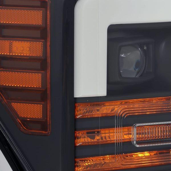 Black 2017 2018 2019 Ford Super Duty F250 F350 F450 F550 PRO-Series Projector Headlights