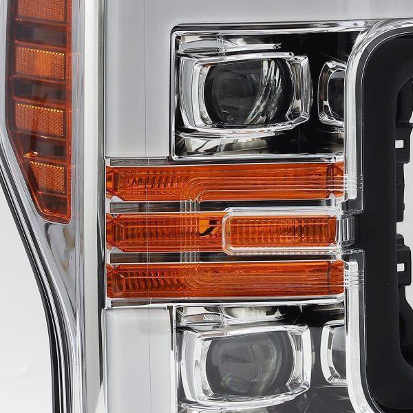 Chrome 2017 2018 2019 Ford Super Duty F250 F350 F450 F550 PRO-Series Projector Headlights