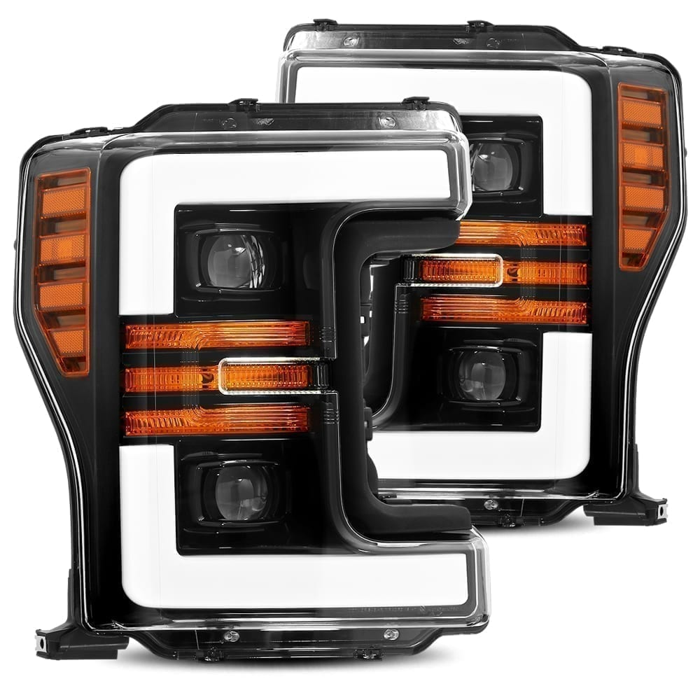Jet Black 2017 2018 2019 Ford Super Duty F250 F350 F450 F550 PRO-Series Projector Headlights