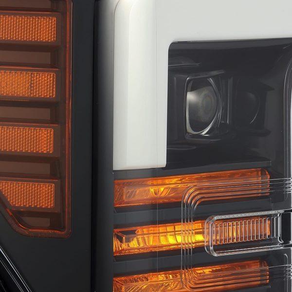 Jet Black 2017 2018 2019 Ford Super Duty F250 F350 F450 F550 PRO-Series Projector Headlights