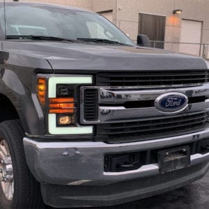 Installed Picture 2017 2018 2019 Ford Super Duty F250 F350 F450 F550 PRO-Series Projector Headlights