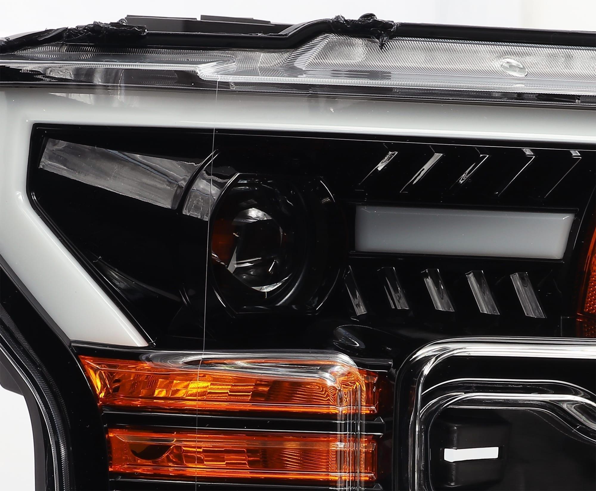 AlphaRex Glossy Jet Black Housing Headlights
