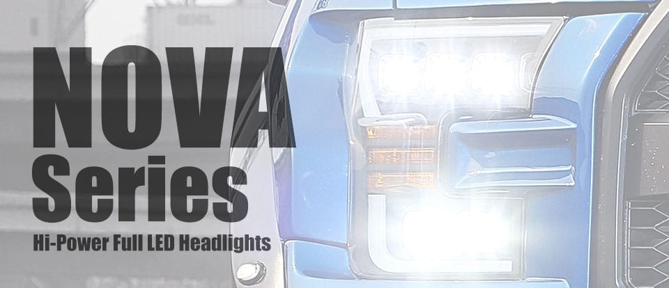 AlphaRex USA NOVA-Series Hi-Power Full LED Headlights