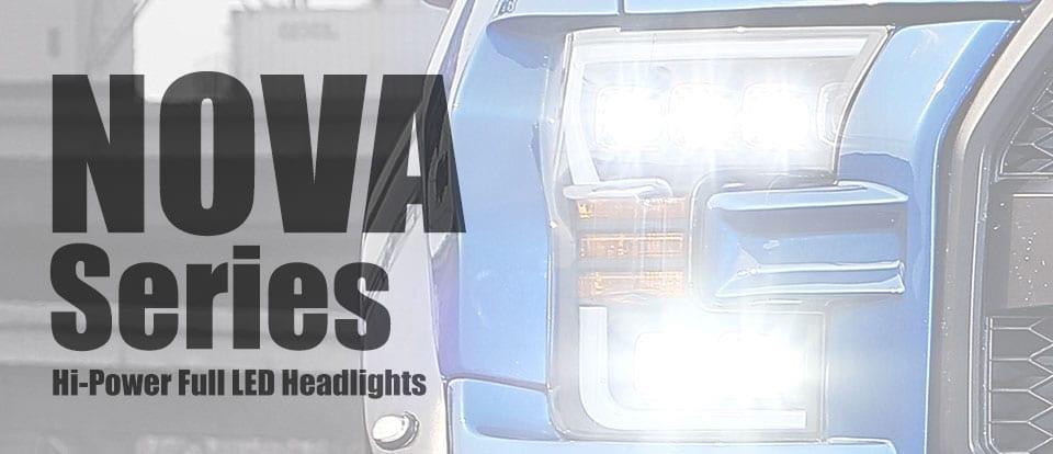 AlphaRex USA NOVA-Series Hi-Power Full LED Headlights