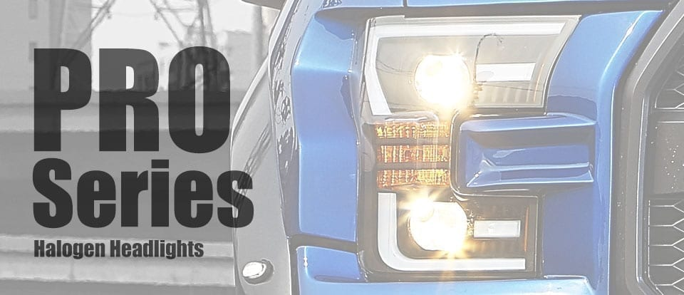 AlphaRex USA PRO-Series Halogen Headlights