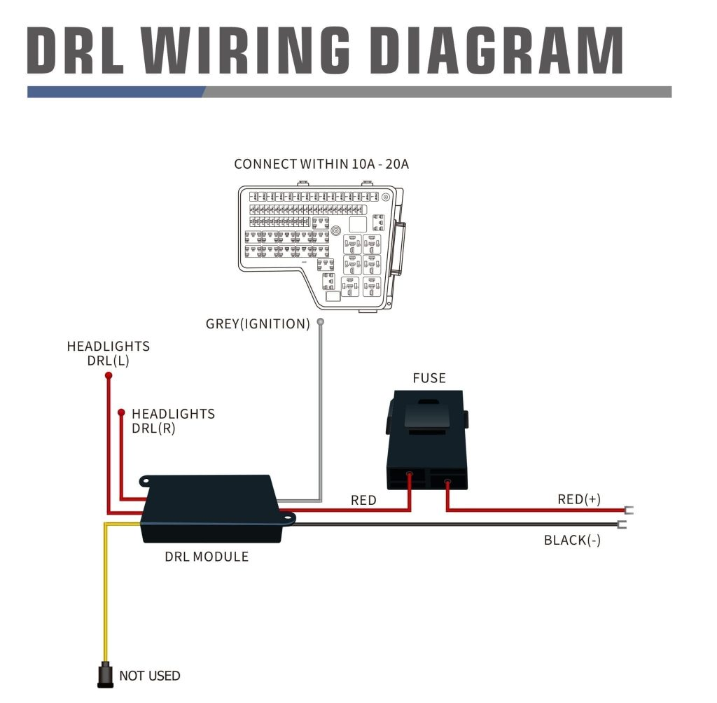 How to wire the DRL harness? | AlphaRexAlphaRex