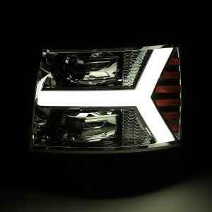DRL light up picture 2007 2008 2009 2010 2011 2012 2013 Chevrolet Silverado PRO-Series Projector Headlights
