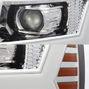 Chrome 2007 2008 2009 2010 2011 2012 2013 Chevrolet Silverado PRO-Series Projector Headlights