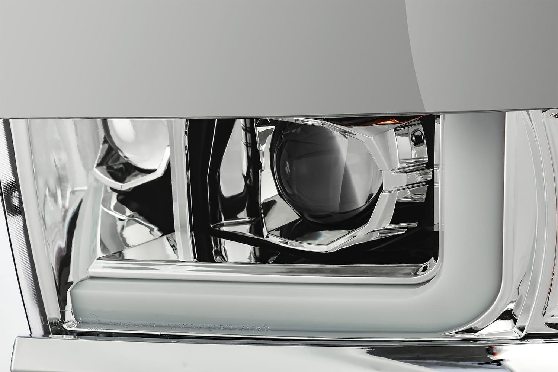 AlphaRex 2015 2016 2017 2018 2019 Chevrolet Silverado 2500HD/3500HD PRO-Series Projector Headlights Chrome