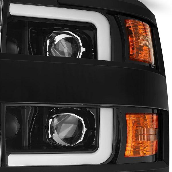 AlphaRex 2015 2016 2017 2018 2019 Chevrolet Silverado 2500HD/3500HD PRO-Series Projector Headlights Jet Black