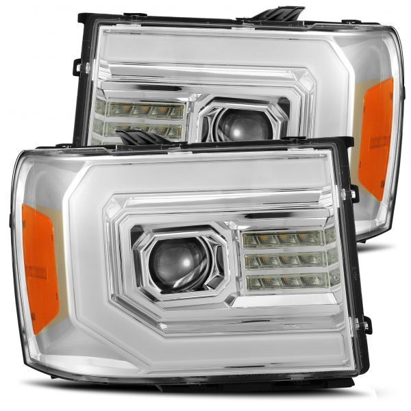 AlphaRex GMC Sierra 2007 2008 2009 2010 2011 2012 2013 PRO-Series Projector Headlights Chrome