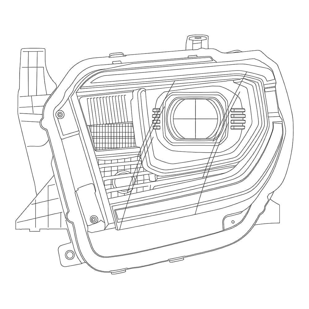 2014 2015 2016 2017 2018 2019 Toyota Tundra PRO-Series Projector Headlights Design