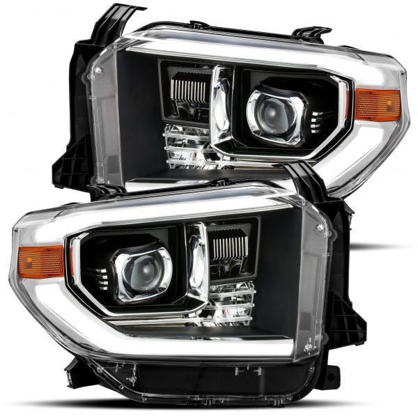 2014 2015 2016 2017 2018 2019 Toyota Tundra PRO-Series Projector Headlights Black
