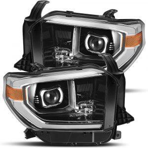 2014 2015 2016 2017 2018 2019 Toyota Tundra PRO-Series Projector Headlights Jet Black