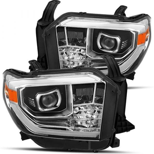 2014 2015 2016 2017 2018 2019 Toyota Tundra PRO-Series Projector Headlights Chrome