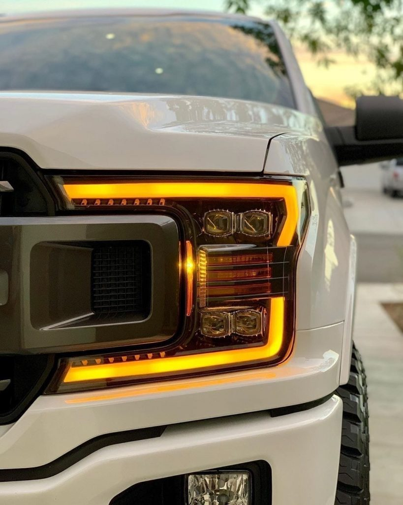 2015 2016 2017 2018 2019 Ford F150 PRO-Series and NOVA-Series Headlights Amber DRL