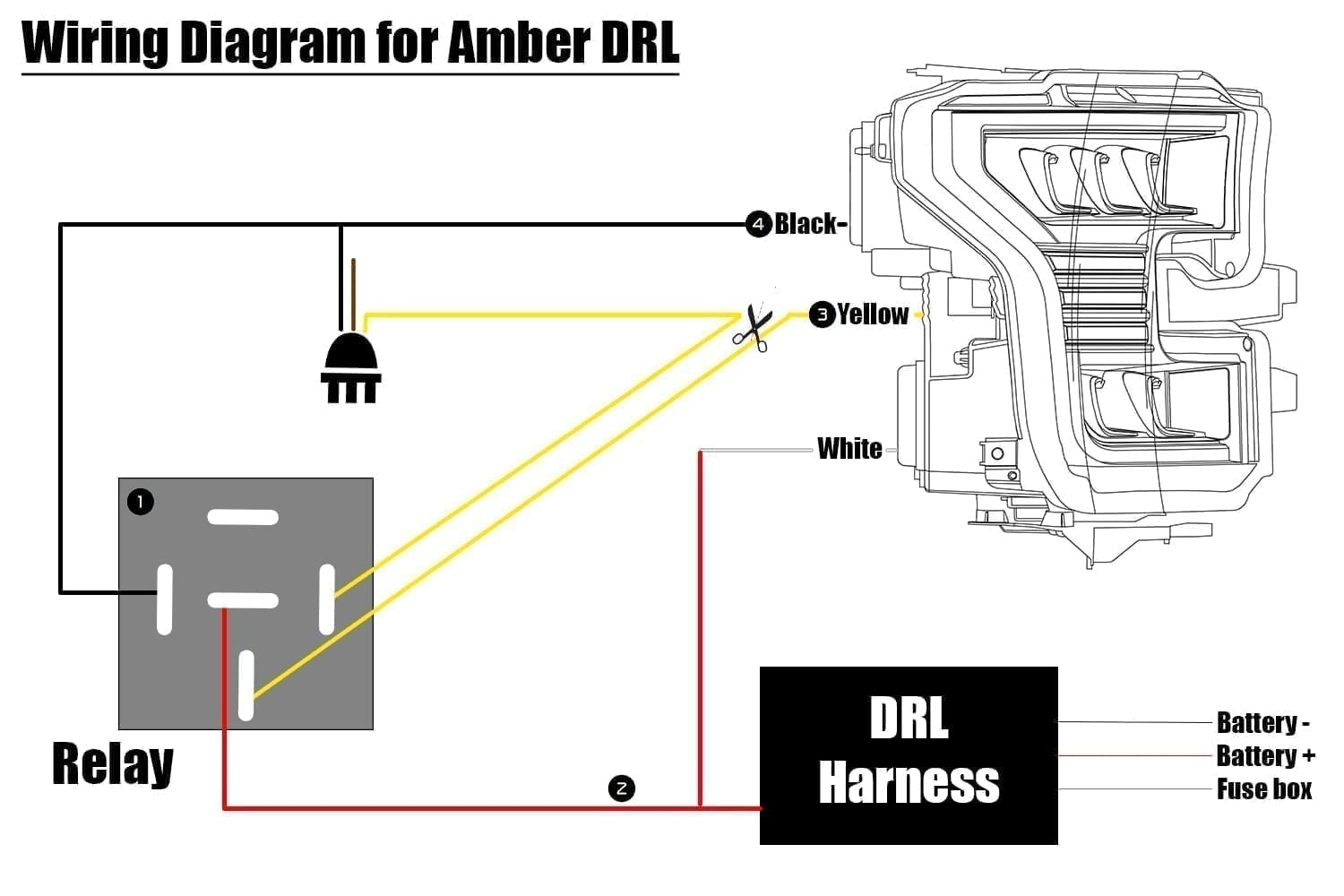 How to wire F150 DRL to be amber | AlphaRex Chevy Silverado Hd Wiring Diagram on 2016 chevy astro, 2016 chevy s-10, 2016 chevy edge, 2016 chevy impala police, 2016 chevy k1500, 2016 chevy colorado crew cab, 2016 chevy hhr, 2016 chevy corvette convertible, 2016 chevy corolla, 2016 chevy durango, 2016 chevy acadia, 2016 chevy lumina, 2016 chevy yukon, 2016 chevy venture, 2016 chevy corvette grand sport, 2016 chevy cruze eco, 2016 chevy mustang, 2016 chevy corvette coupe, 2016 chevy truck, 2016 chevy terrain,