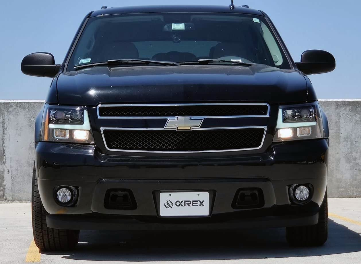 AlphaRex 2007 2008 2009 2010 2011 2012 2013 2014 Chevy Tahoe Suburban Avalanche PRO-Series Projector Headlights Jet Black