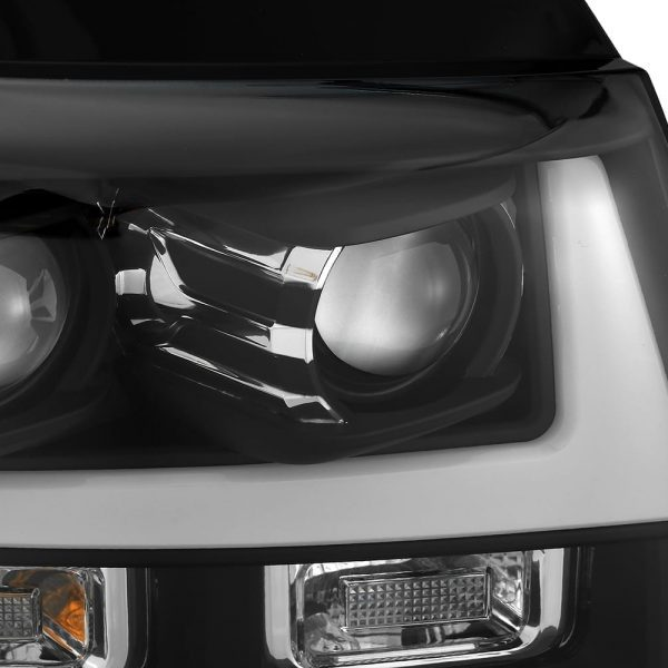 AlphaRex 2007 2008 2009 2010 2011 2012 2013 2014 Chevy Tahoe Suburban Avalanche PRO-Series Projector Headlights Black
