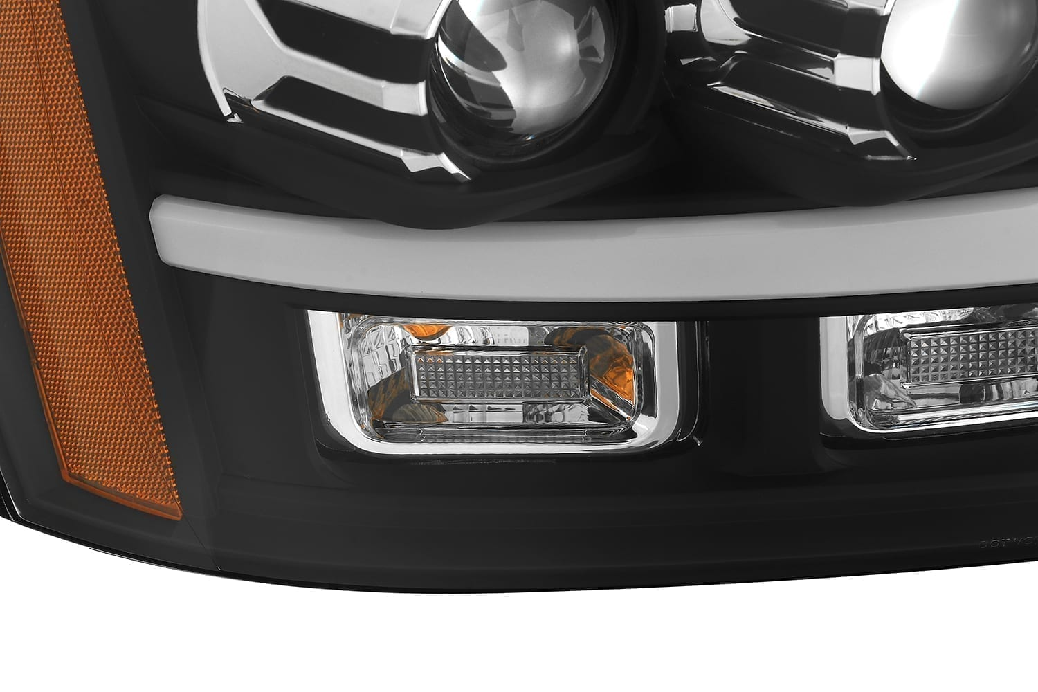 AlphaRex 2007 2008 2009 2010 2011 2012 2013 2014 Chevy Tahoe Suburban Avalanche PRO-Series Projector Headlights Black