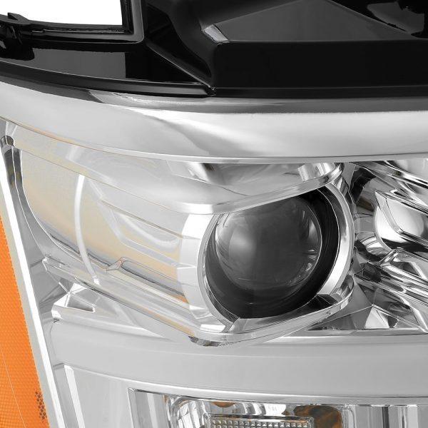 AlphaRex 2007 2008 2009 2010 2011 2012 2013 2014 Chevy Tahoe Suburban Avalanche PRO-Series Projector Headlights Chrome
