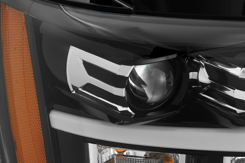 AlphaRex 2007 2008 2009 2010 2011 2012 2013 2014 Chevy Tahoe Suburban Avalanche PRO-Series Projector Headlights Jet Black