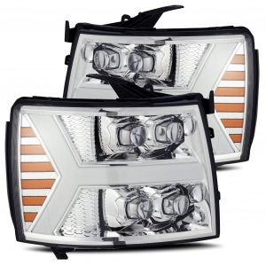 AlphaRex 2007 2008 2009 2010 2011 2012 2013 Chevrolet Silverado NOVA-Series Full LED Projector Headlights Chrome