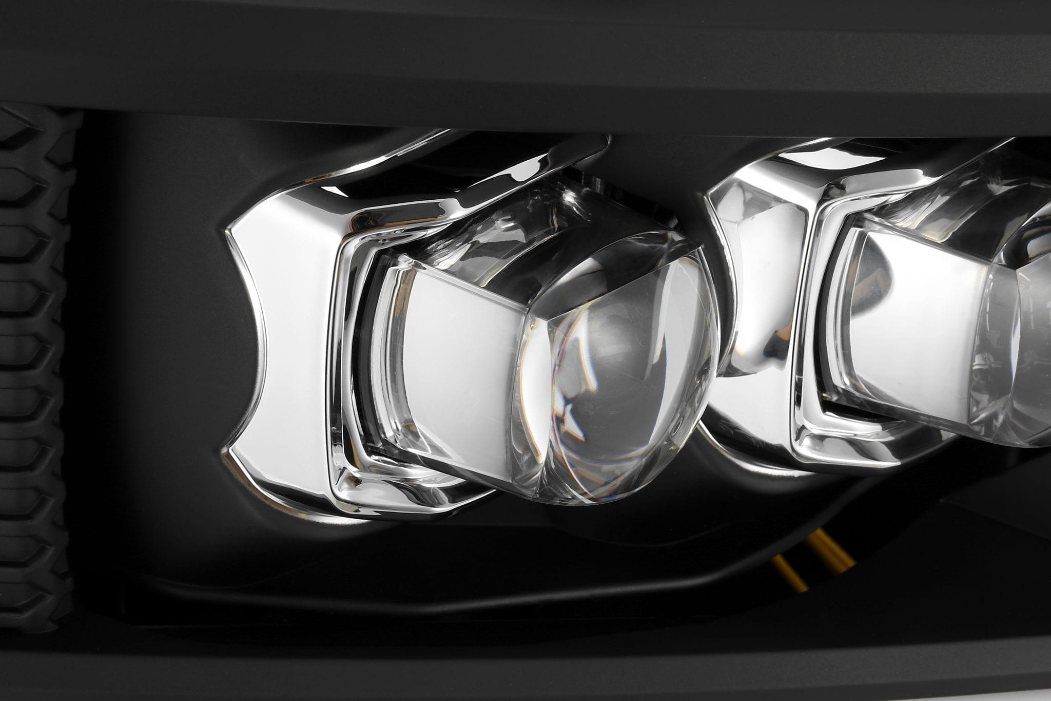 AlphaRex 2007 2008 2009 2010 2011 2012 2013 Chevrolet Silverado NOVA-Series Full LED Projector Headlights Black