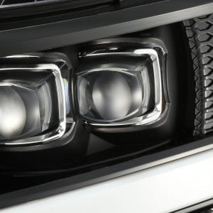 AlphaRex 2007 2008 2009 2010 2011 2012 2013 Chevrolet Silverado NOVA-Series Full LED Projector Headlights Jet Black