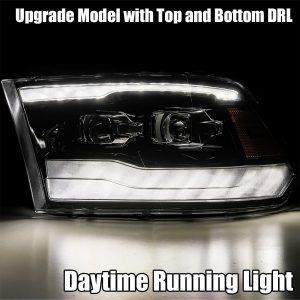 DRL light 2009 2010 2011 2012 2013 2014 2015 2016 2017 2018 Ram Truck 1500/2500/3500 PRO-Series Projector Headlights