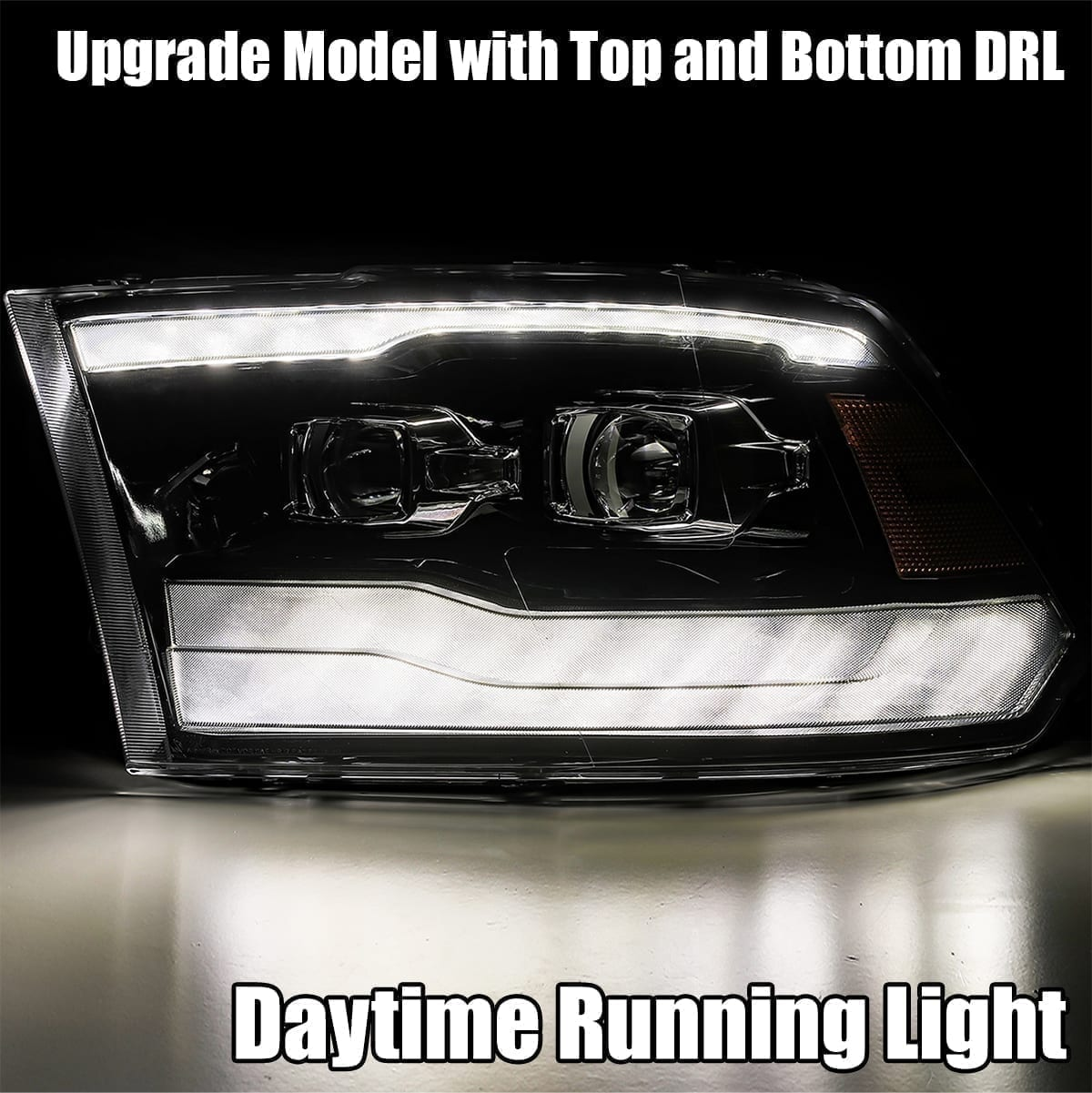 DRL light 2009 2010 2011 2012 2013 2014 2015 2016 2017 2018 Ram Truck 1500/2500/3500 PRO-Series Projector Headlights