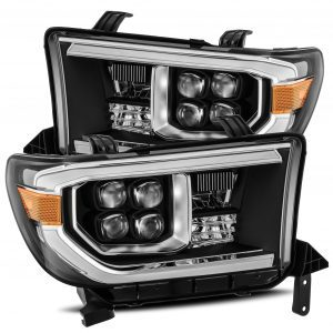 2007 2008 2009 2010 2011 2012 2013 Toyota Tundra Sequoia NOVA-Series Full LED Projector Headlights Black