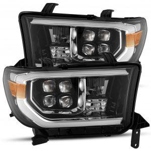 2007 2008 2009 2010 2011 2012 2013 Toyota Tundra Sequoia NOVA-Series Full LED Projector Headlights Jet Black