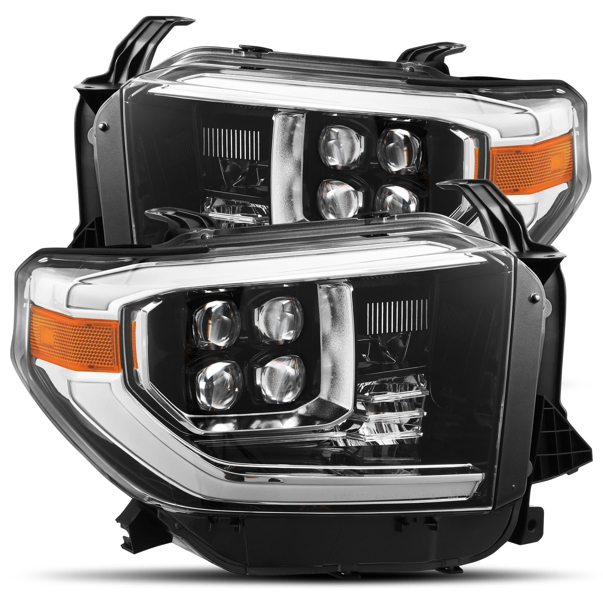 2014 2015 2016 2017 2018 2019 Toyota Tundra NOVA-Series Full LED Projector Headlights Jet Black