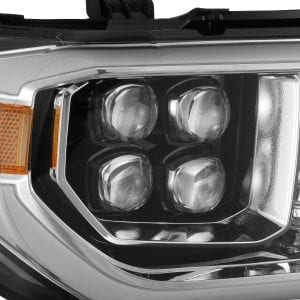 2007 2008 2009 2010 2011 2012 2013 Toyota Tundra Sequoia NOVA-Series Full LED Projector Headlights Jet Black