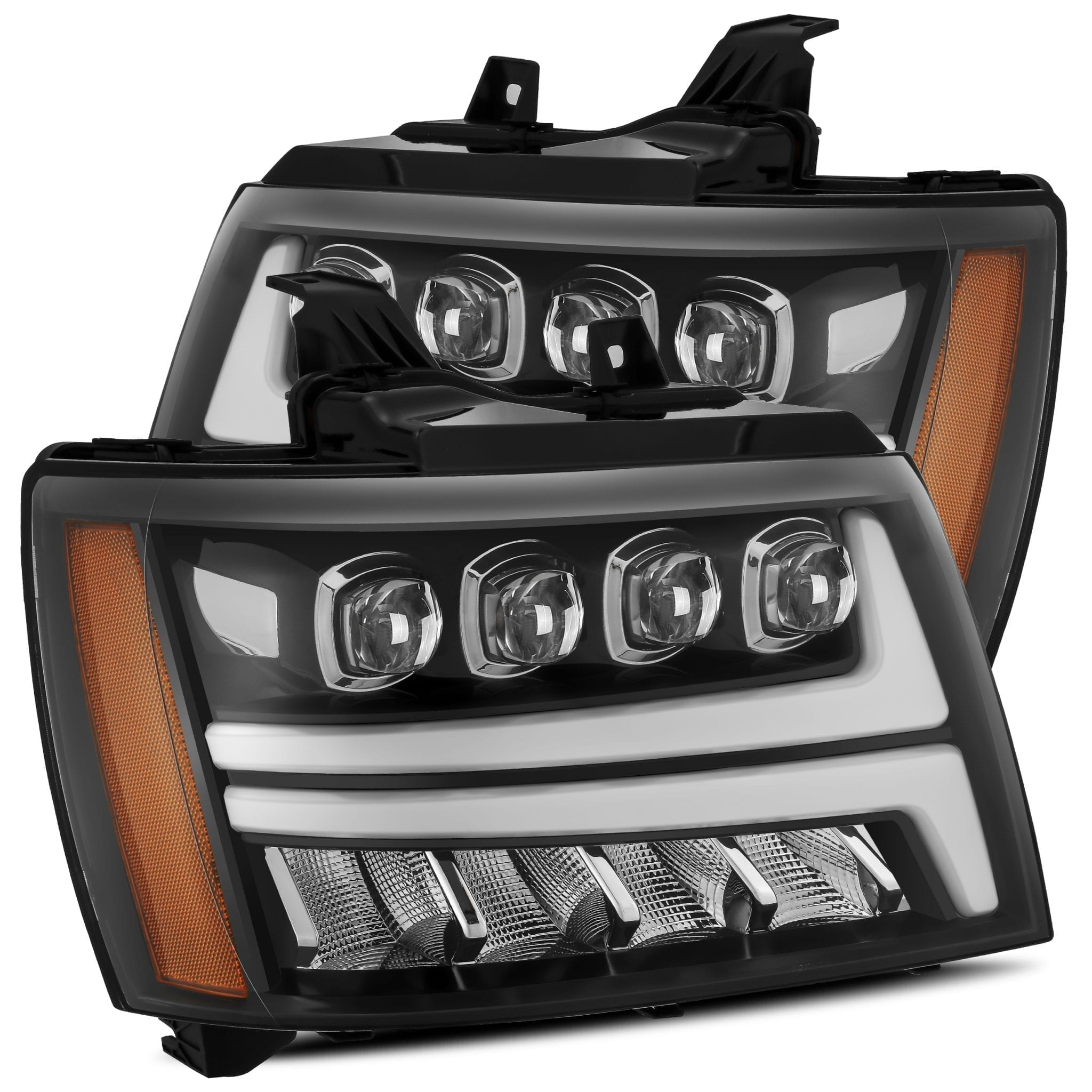 2007 2008 2009 2010 2011 2012 2013 Chevy Tahoe Suburban Avalanche NOVA-Series Full LED Projector Headlights Jet Black