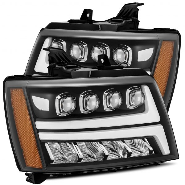 2007 2008 2009 2010 2011 2012 2013 Chevy Tahoe Suburban Avalanche NOVA-Series Full LED Projector Headlights Black