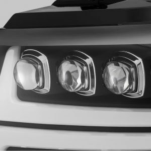 2007 2008 2009 2010 2011 2012 2013 Chevy Tahoe Suburban Avalanche NOVA-Series Full LED Projector Headlights Black