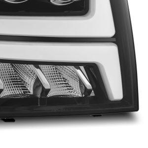 2007 2008 2009 2010 2011 2012 2013 Chevy Tahoe Suburban Avalanche NOVA-Series Full LED Projector Headlights Jet Black