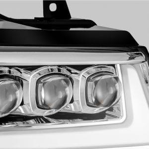 2007 2008 2009 2010 2011 2012 2013 Chevy Tahoe Suburban Avalanche NOVA-Series Full LED Projector Headlights Chrome