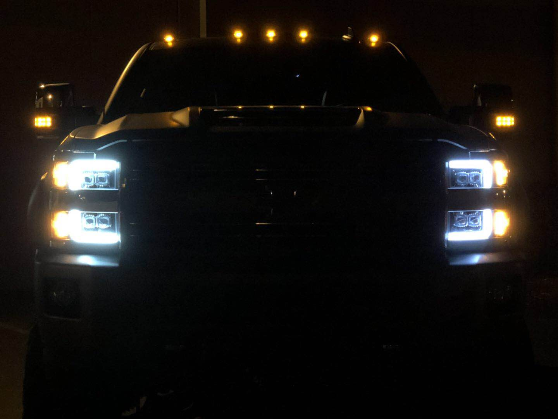 2015 2016 2017 2018 2019 Chevrolet Silverado 2500HD 3500HD NOVA-Series Full LED Projector Headlights