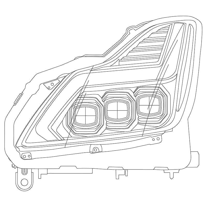 2008 2009 2010 2011 2012 2013 2014 2015 Infiniti G37 Q60 NOVA-Series Full LED Projector Headlights Design