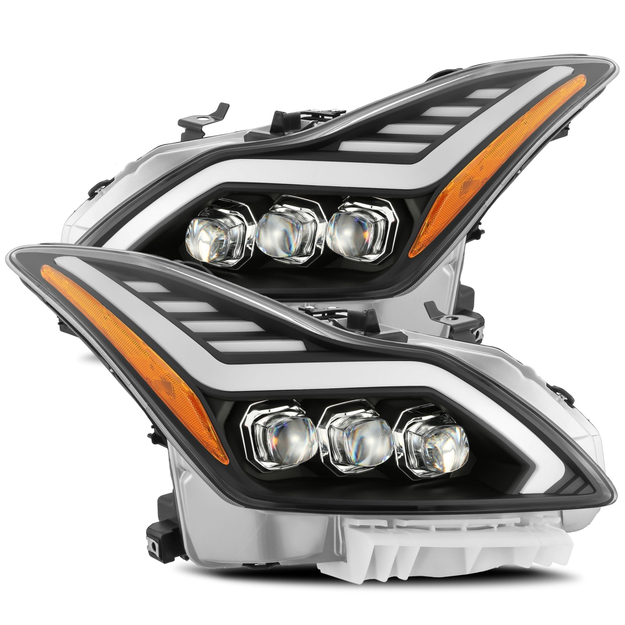 08 15 Infiniti G37 Q60 Nova Series Projector Headlights Black