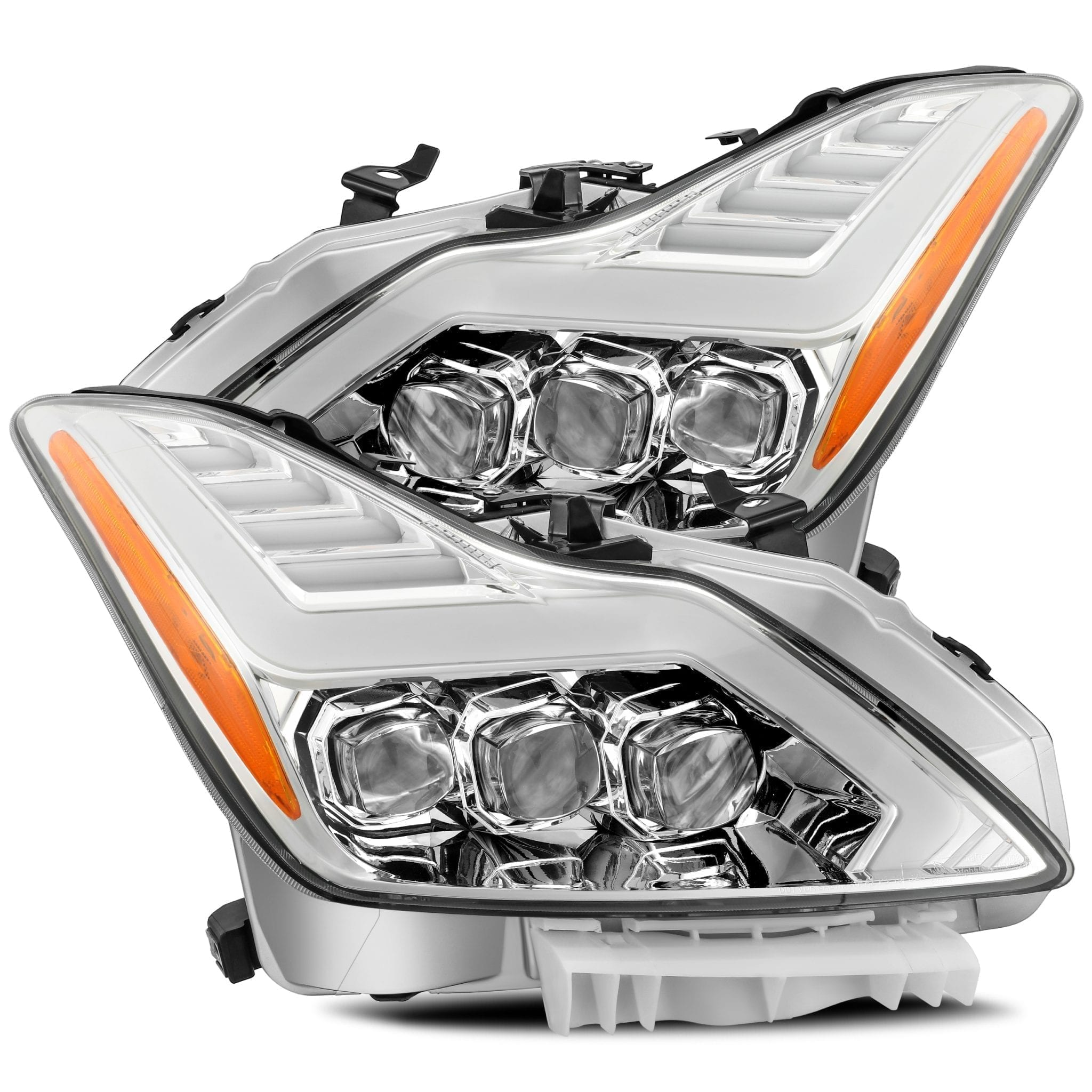 2008 2009 2010 2011 2012 2013 2014 2015 Infiniti G37 Q60 NOVA-Series Full LED Projector Headlights Chrome