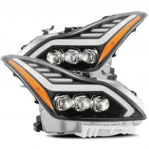 2008 2009 2010 2011 2012 2013 2014 2015 Infiniti G37 Q60 NOVA-Series Full LED Projector Headlights Jet Black