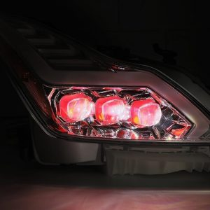 2008 2009 2010 2011 2012 2013 2014 2015 Infiniti G37 Q60 Red NOVA Full LED Projector Headlights