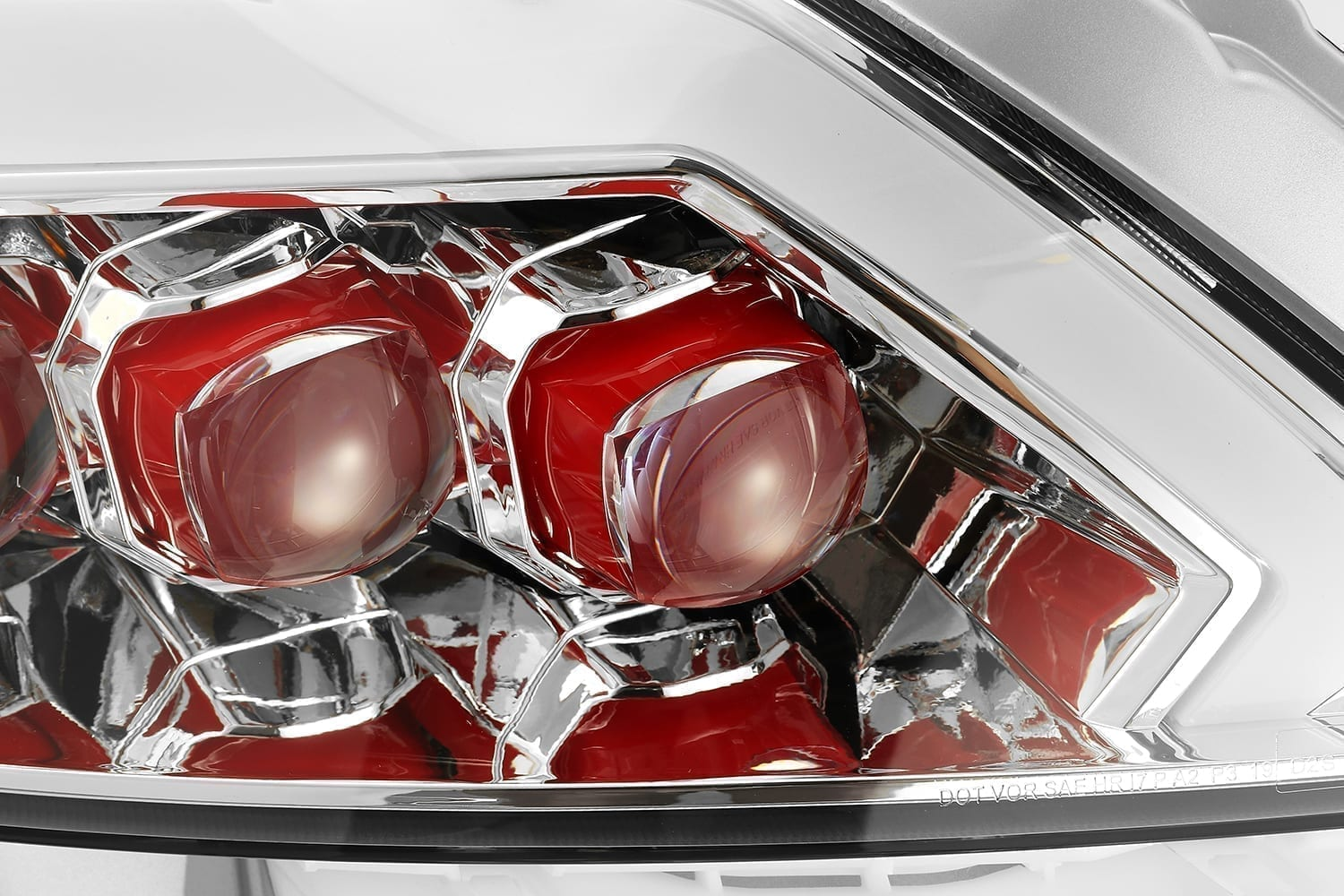 2008 2009 2010 2011 2012 2013 2014 2015 Infiniti G37 Q60 Red NOVA Full LED Projector Headlights